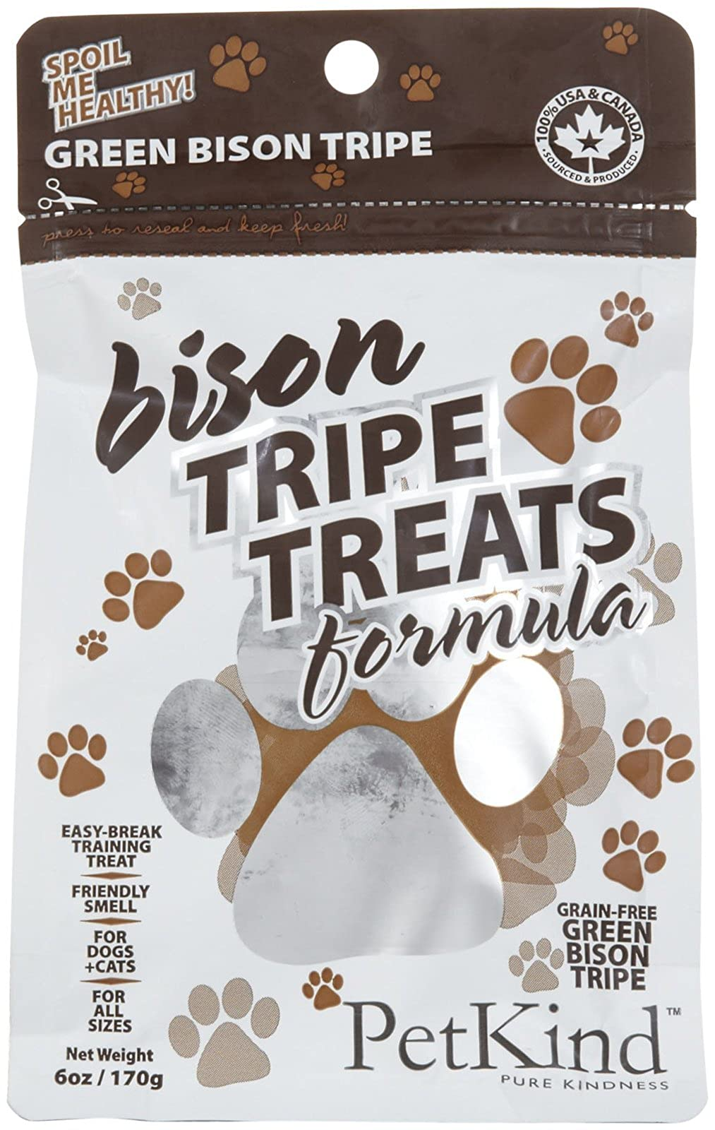 Petkind Green Bison Tripe Treats For Dogs 6 Oz - 1