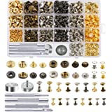Caydo 400 Set 4 Style Snap Fasteners Kit Including Leather Rivets, Eyelets, Grommets, Binding Screws, Snap Buttons Press…