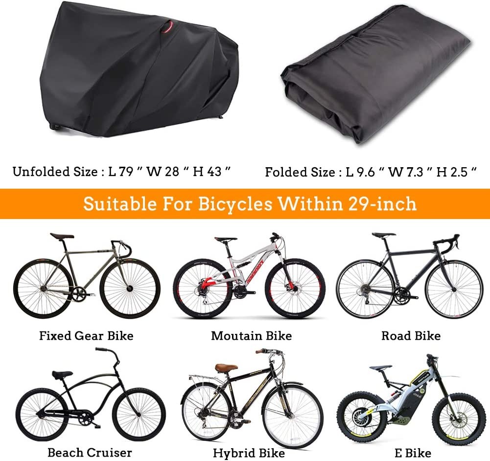 N//D Bike Cover,Waterproof Outdoor Bicycle Cover Motorbike Mountain Covers For Outside storage Rain Dust Resists