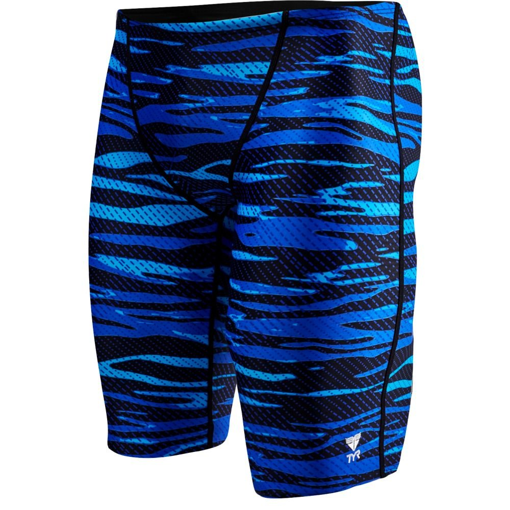 TYR SCR7Y Boys' Crypsis All Over Jammer, Blue - 24