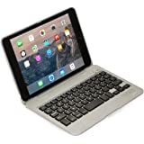 iPad Mini 1 2 3 keyboard case, COOPER KAI SKEL P1 Bluetooth Wireless Keyboard Portable Laptop Macbook Clamshell Case Cover with 13 Shortcut Function Keys for Apple iPad Mini 1st 2nd 3rd Silver