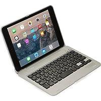 iPad Mini 1/2/3 Custodia con Tastiera, Cooper Kai SKEL P1 Custodia A Guscio Rigido per Il Trasporto con Tastiera Bluetooth QWERTY Wireless per Apple iPad Mini 1/2/3 (Argento, Funzione Sleep/Wake)