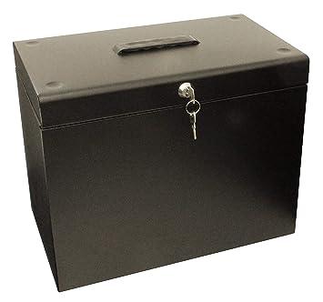 Cathedral - Archivador (A4, metal, con 10 carpetas colgantes), color negro: Amazon.es: Oficina y papelería