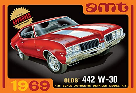 AMT 1105 1969 Olds 442 W-30 1:25 Scale Plastic Model Kit Requires Assembly