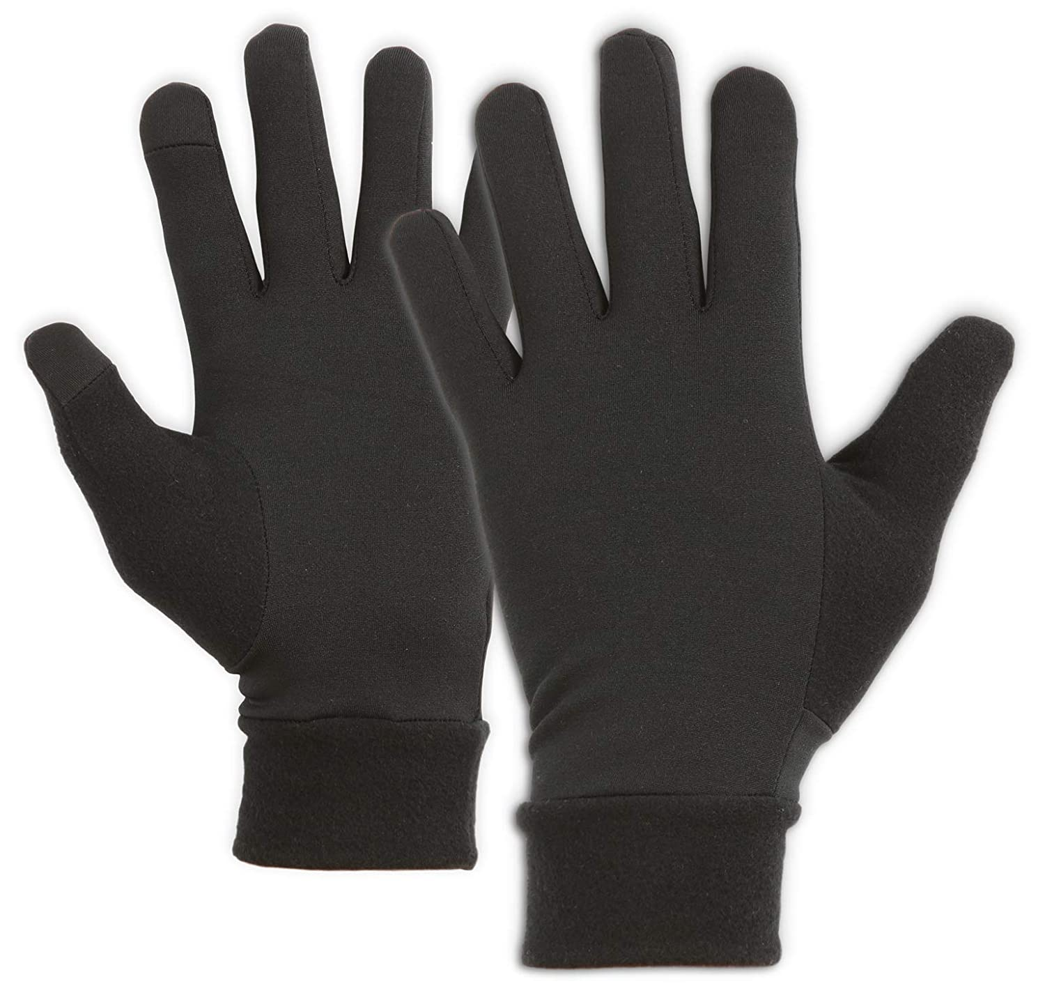 IGN1TE Touch Screen Gloves - Thermal Glove Liners Designed for Running, Skiing, Snowboarding, Cycling & Texting - 90% Nylon 10% Spandex Reinforced Blend - Fits Men & Women