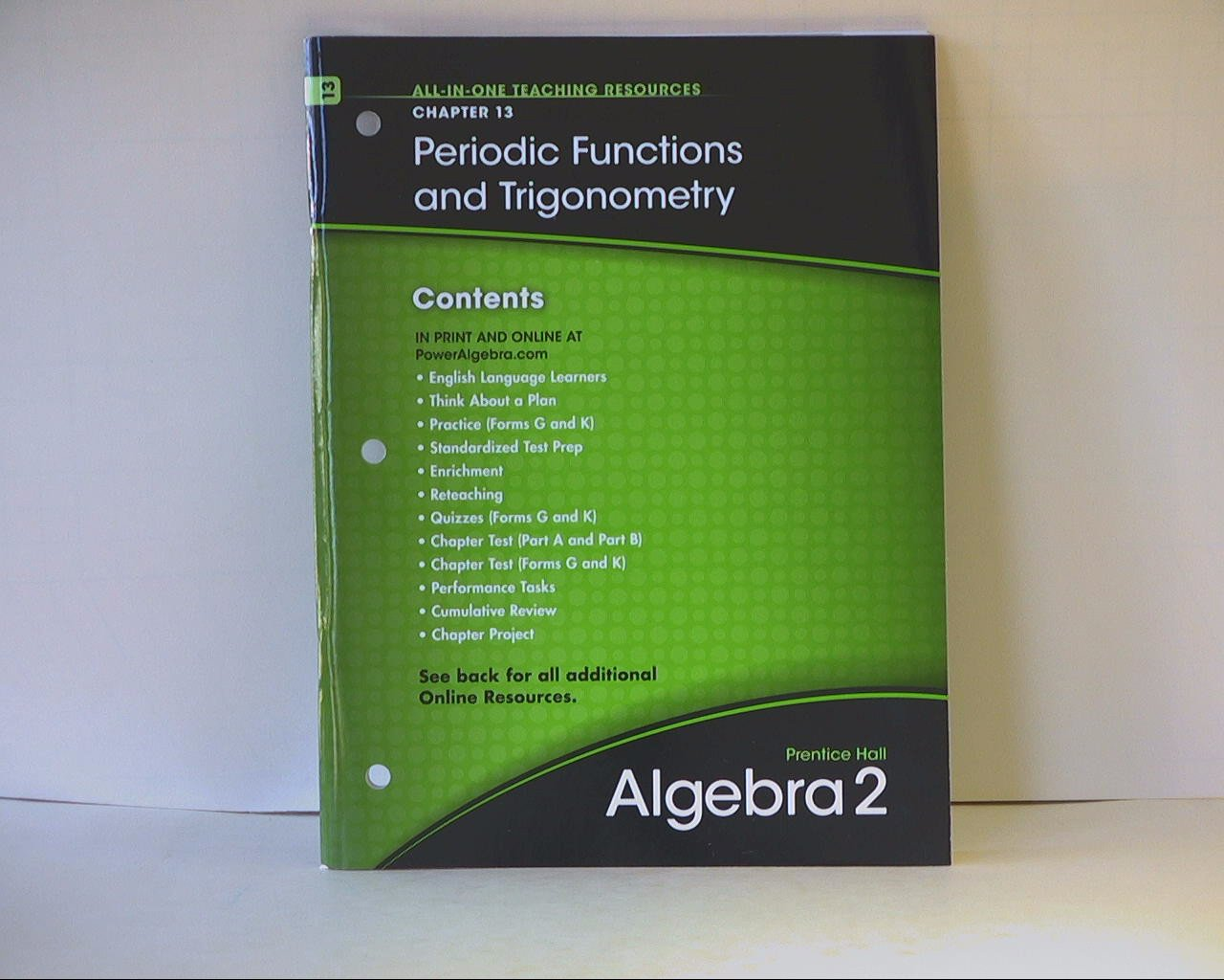 Prentice Hall Algebra 2 Chapter 13: Periodic Functins and Trigonometry, All-in-one teaching resources ISBN 013368928X 9780133689280 2010 by Pearson pdf epub