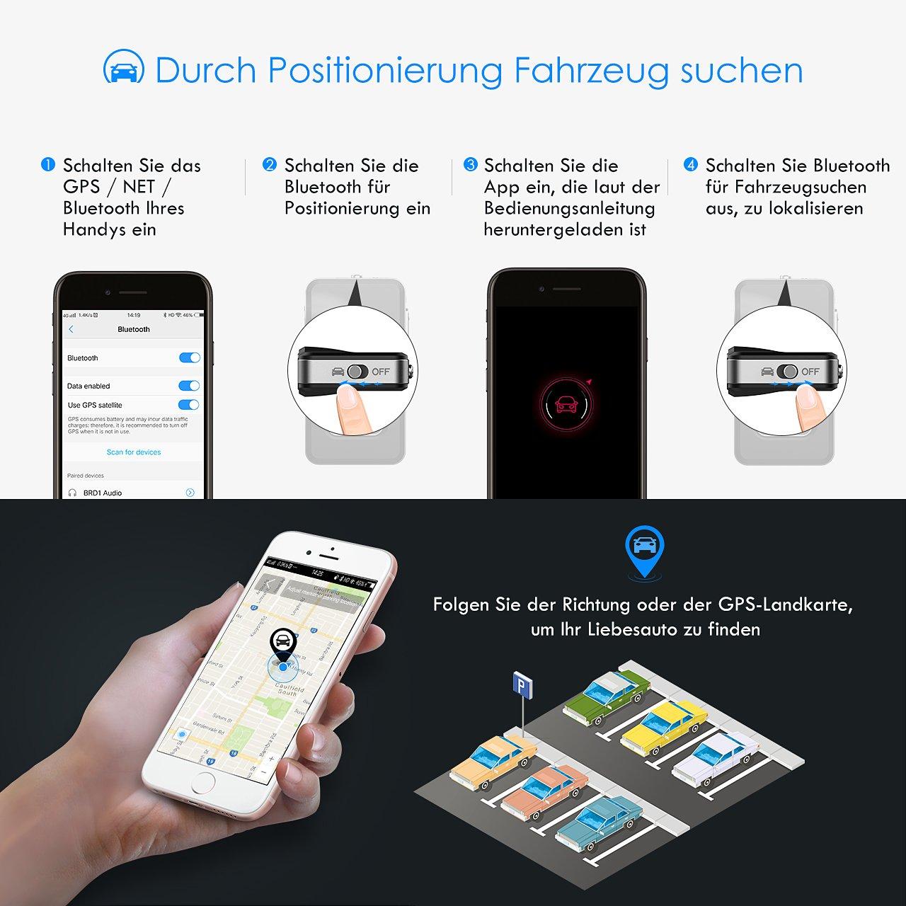 2-in-1-Car-Audio-Adapter Freisprecheinrichtungen und Wireless-Musikadapter f/ür Stereoanlage Mpow Bluetooth 4.1-Empf/änger und Car Locator