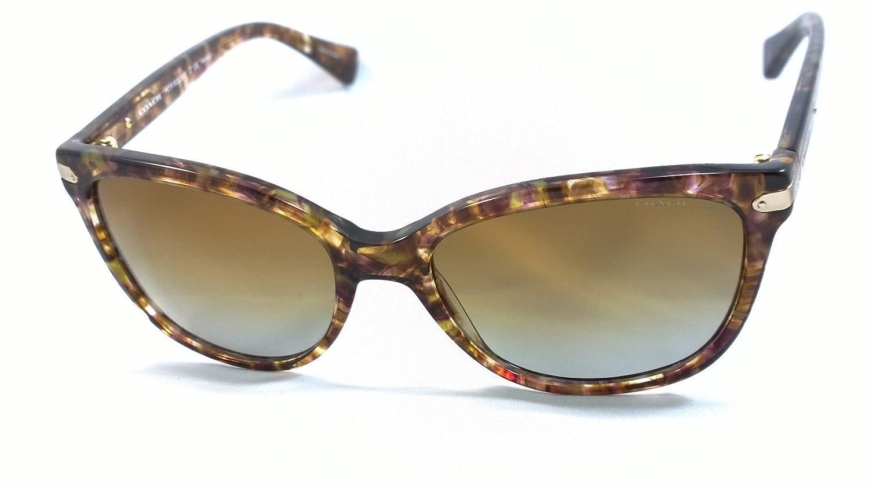 bb1f7b3b15 Amazon.com  Coach Hc8132 (L109) 100% Authentic Women s Polarized Sunglasses  (Confetti Light Brown) 5287t5  Clothing