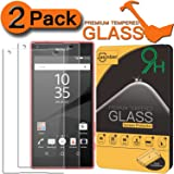 [2-Pack] Xperia Z5 Compact Screen Protector, Jasinber [Tempered Glass] Screen Protector for Sony Xperia Z5 Compact with 9H Hardness/Anti-Scratch/Anti-Fingerprint/Bubble Free