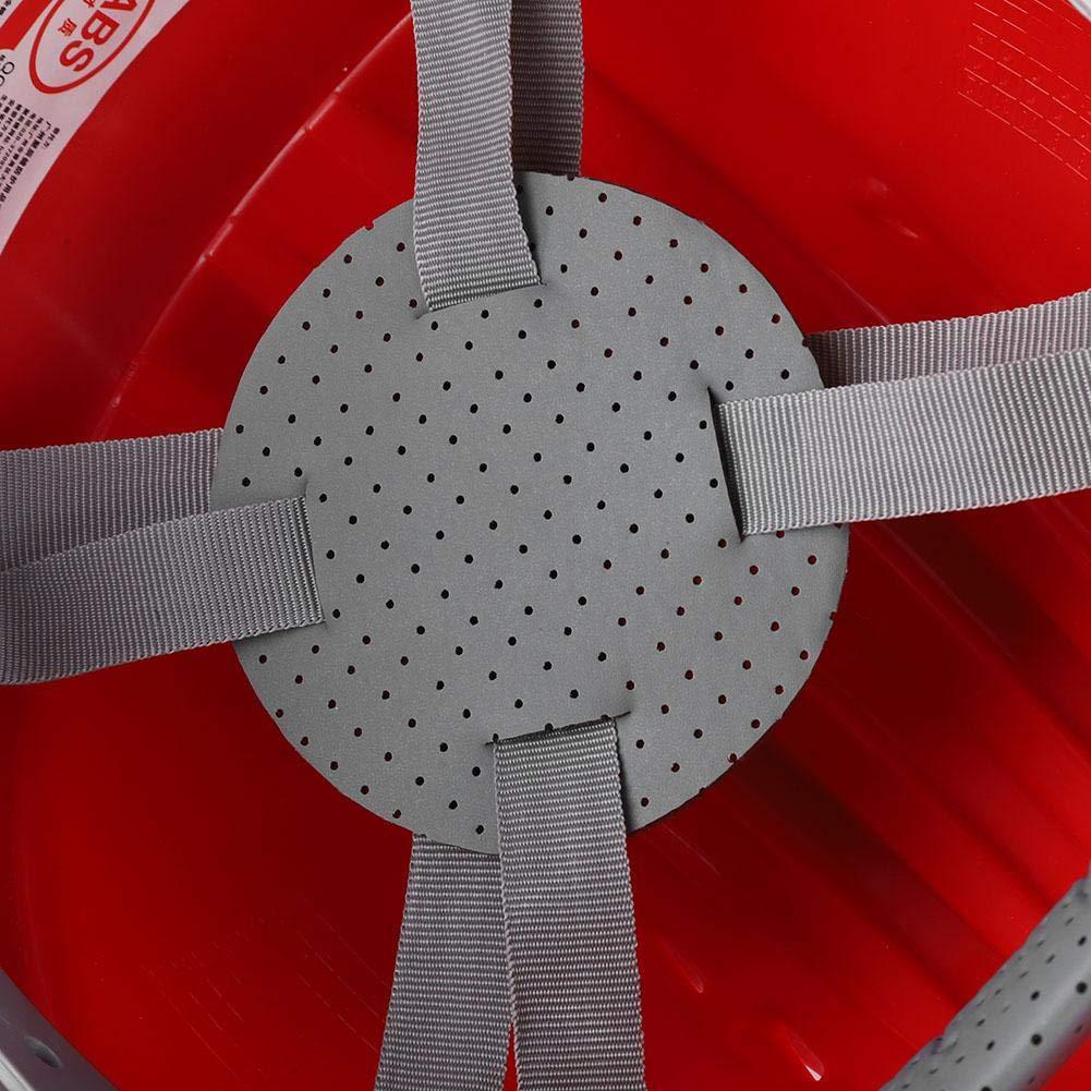 Boquite Casco Naranja Ventilar ABS Trabajador de construcci/ón Obra Protectora Casco de Seguridad con Franja Reflectante