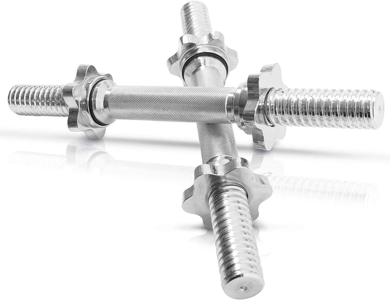 Kurzhantelstange Kompatibel mit Standard-Hantelscheiben mit 50-mm-Bohrung 120CM Hantelstange ZZZTWO Langhantel-Stange Verchromt und Ger/ändelt