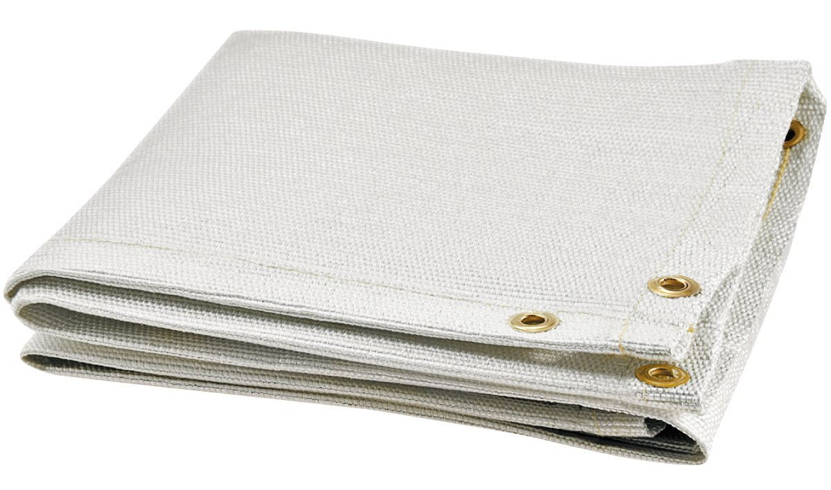 Steiner 367-10X10 Glass Web 35 oz White Fiberglass Welding Blanket, 10' x 10'