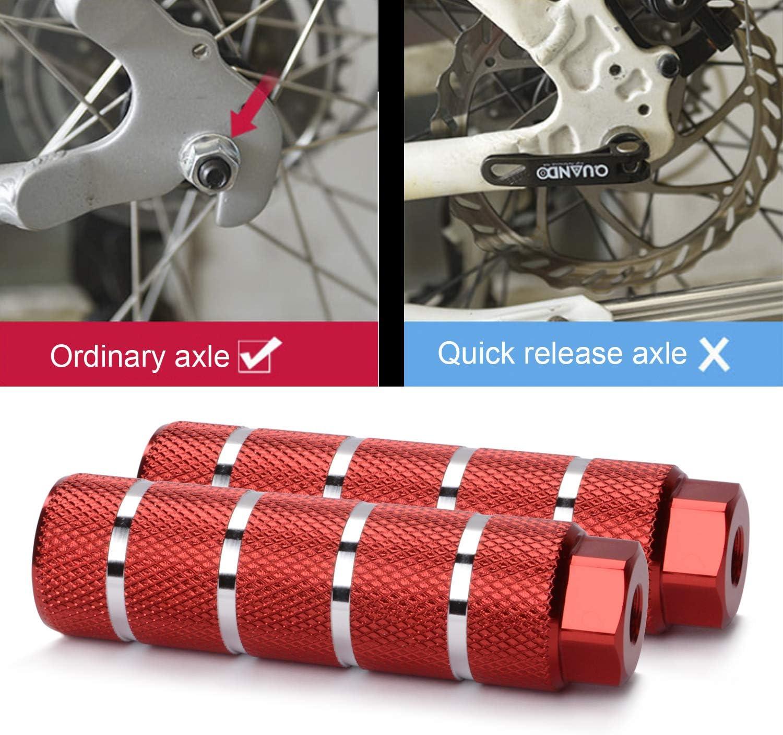 Pour essieux de 9,5 mm Helaryfreemear Piquets de v/élo antid/érapants en alliage daluminium pour v/élo de montagne BMX