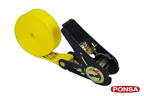 PONSA Cinta trincaje con tensor -Ratchet - Carraca - para cargas semi pesadas. Longitud 5m. Resistencia rotura real 2.000 kg. 027135025108: Amazon.es: Coche ...