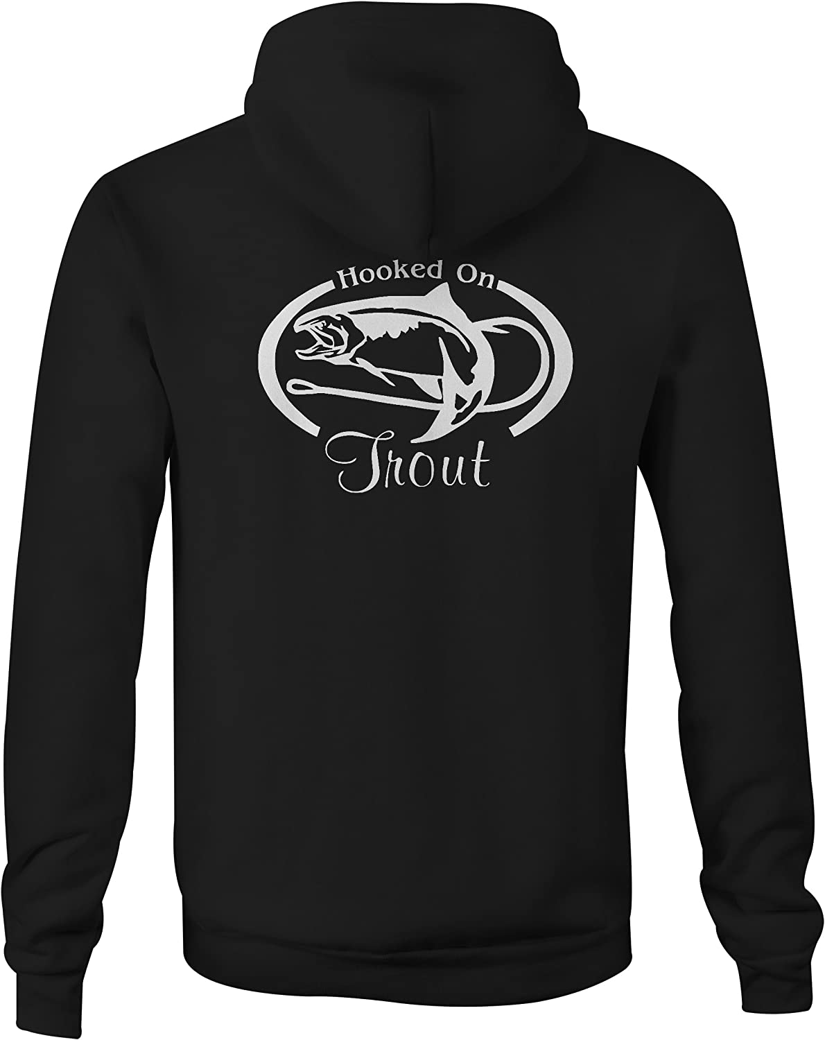 One Stop Services Zip Up Hoodie Hooked on Trout Fishing Hook Sweatshirt 3XL