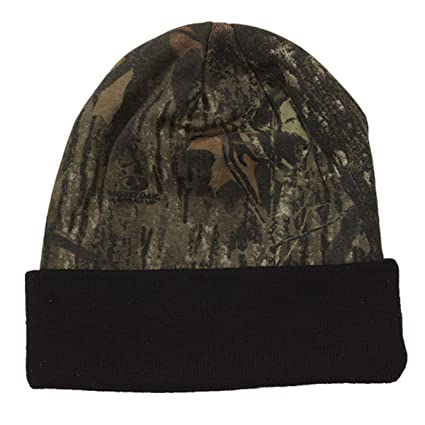 WearDgo Licensed Camo Hunting Beanies (Mossy Oak - Black 12 quot ) 9f741925f8b