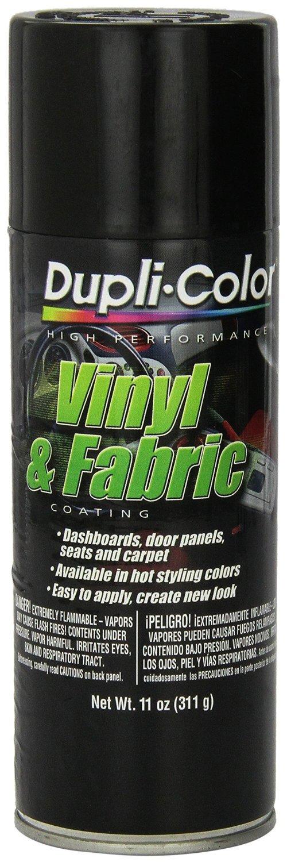 Dupli-Color HVP104 Gloss Black Vinyl & Fabric Coating 11 oz. Aerosol (6 PACK)