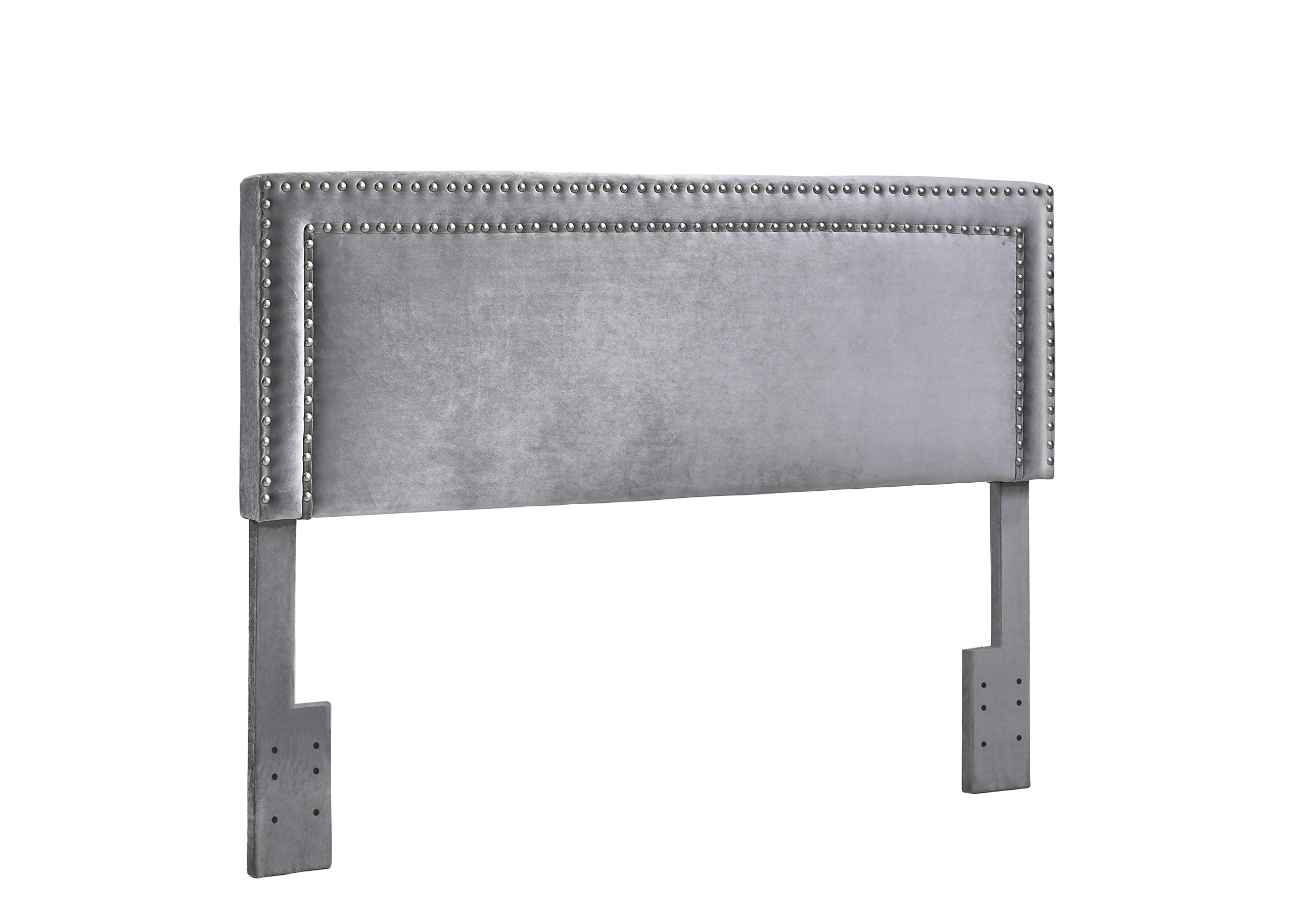 Best Quality Furniture B92 Queen & Full Headboard (Only) Gray Color by Best Quality