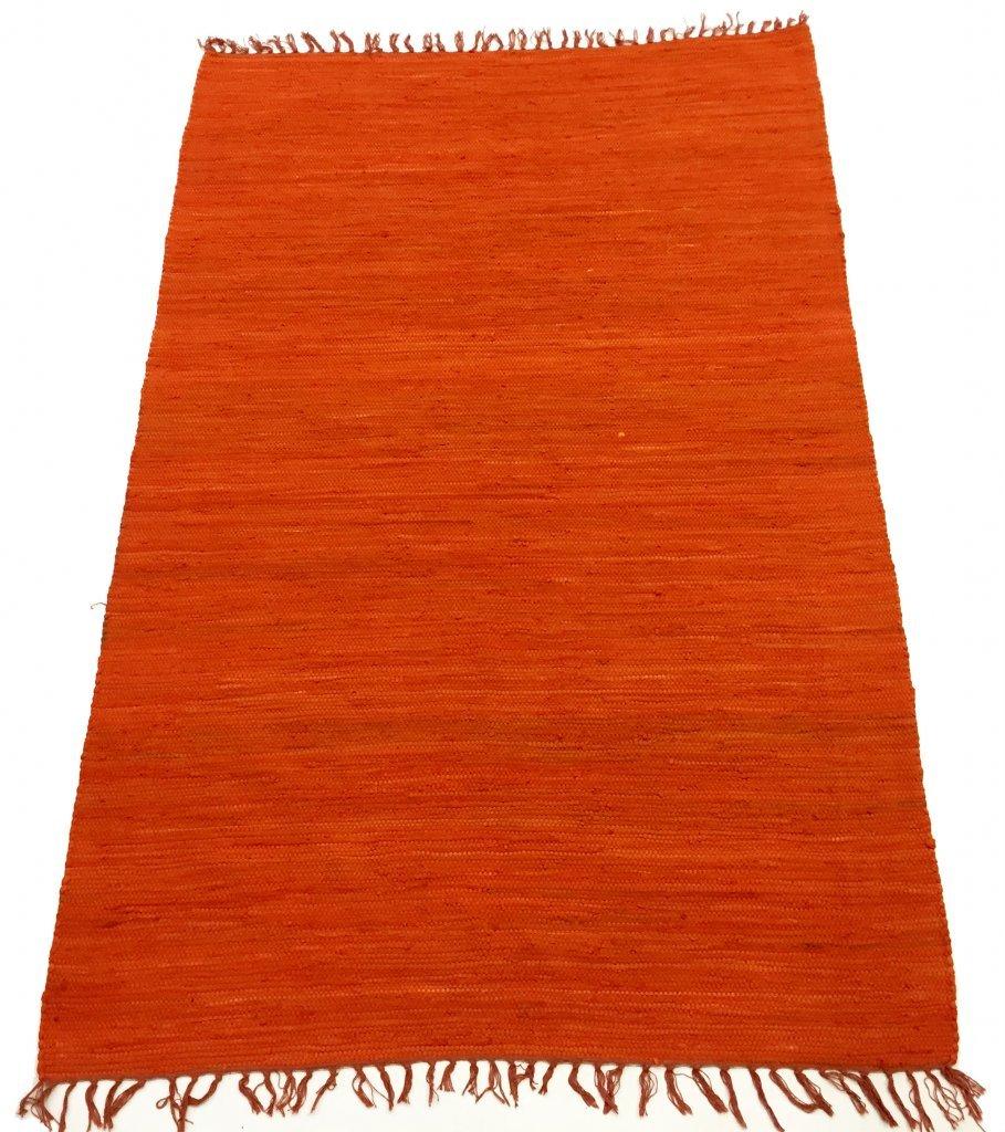 Trendcarpet Rag rugs - Silje (orange) Size 70 x 200 cm