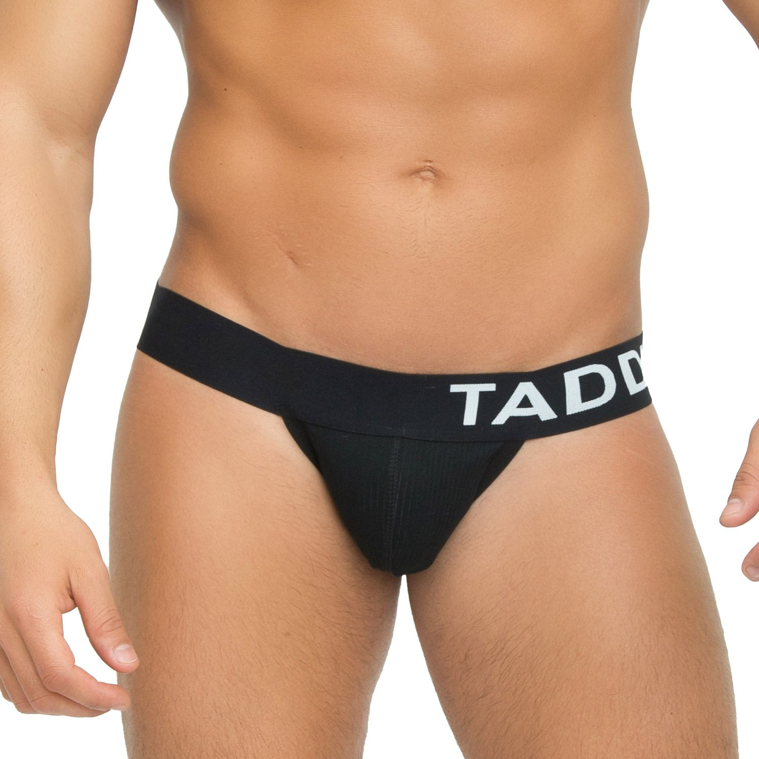 Taddlee Sexy Mens Black Low-Rise Jock Strap Stretch Briefs Thong Underwear Pouch (M) by Taddlee