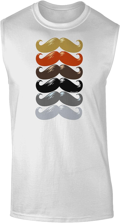 TooLoud Big Gray Mustache Dark Muscle Shirt