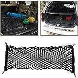 JTDEAL Filet de Rangement pour Coffre de Voiture en Flexible Nylon Élastique avec 4 Crochets pour Voiture, SUV, Camion(Noir)