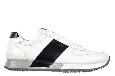 huge selection of d515e 0431f Amazon | [プラダ] 男性用 革靴 スニーカー plume 白色 [並行 ...