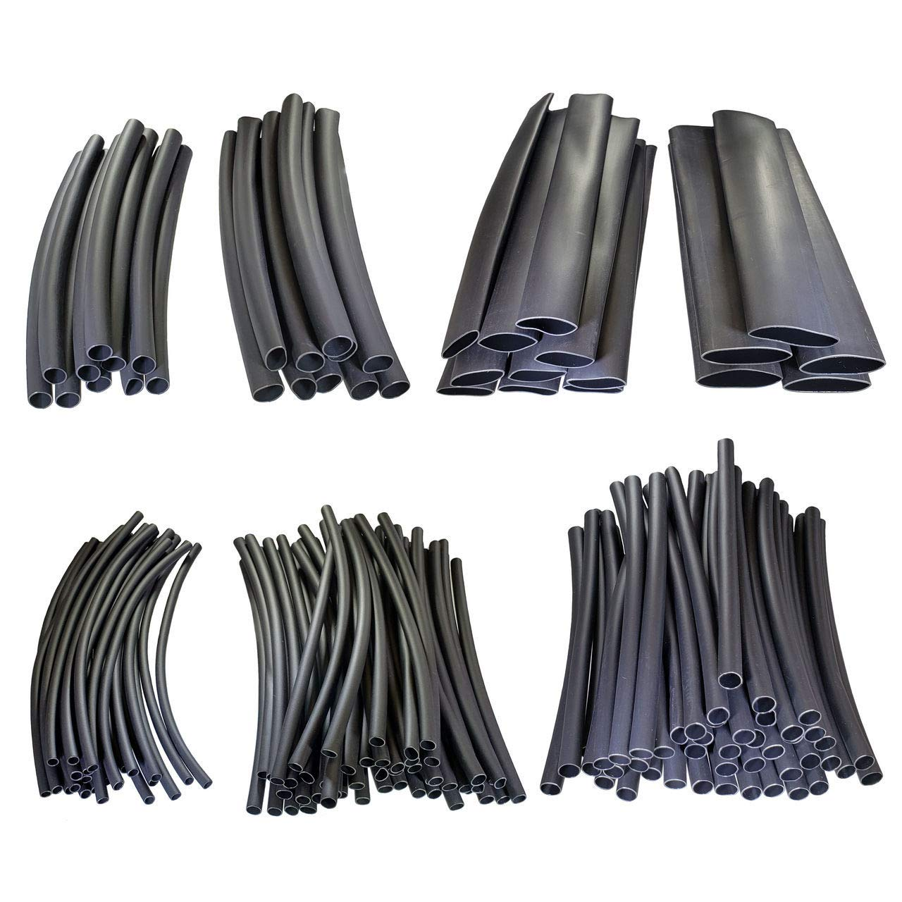 3:1 Heat Shrink Tubing Adhesive Lined - Automotive & Marine Grade - Includes: 1/8'', 3/16'', 1/4'', 5/16'', 3/8'', 1/2'' & 3/4'' - 6'' Sections - 160 Pieces Total - Buy Auto Supply # K13800