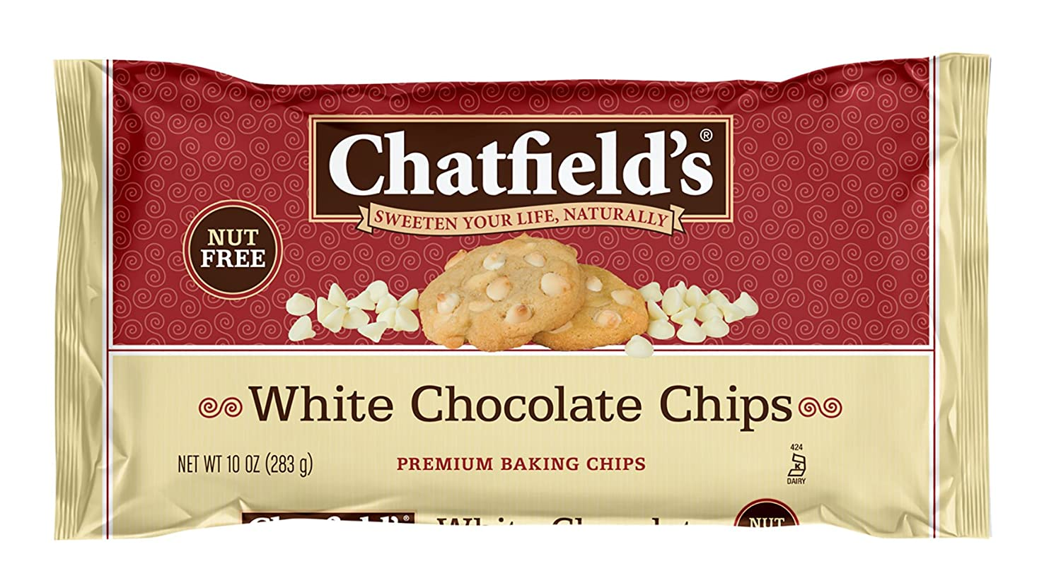 Amazon.com : Chatfield's White Chocolate Chips, 10 Ounce : Dairy ...