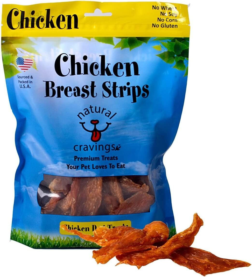 Natural Cravings USA Chicken Breast Strip Chews for Dogs | All Natural, High Protein | Premium Quality Pet Treat | 12 oz. Bag