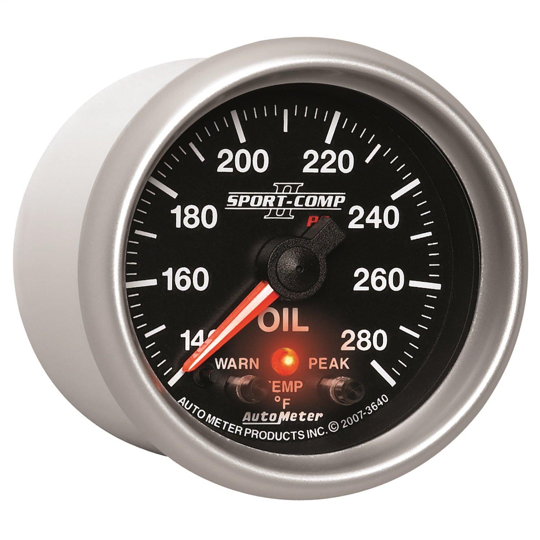 Auto Meter 3640 Sport-Comp PC Oil Temperature Gauge