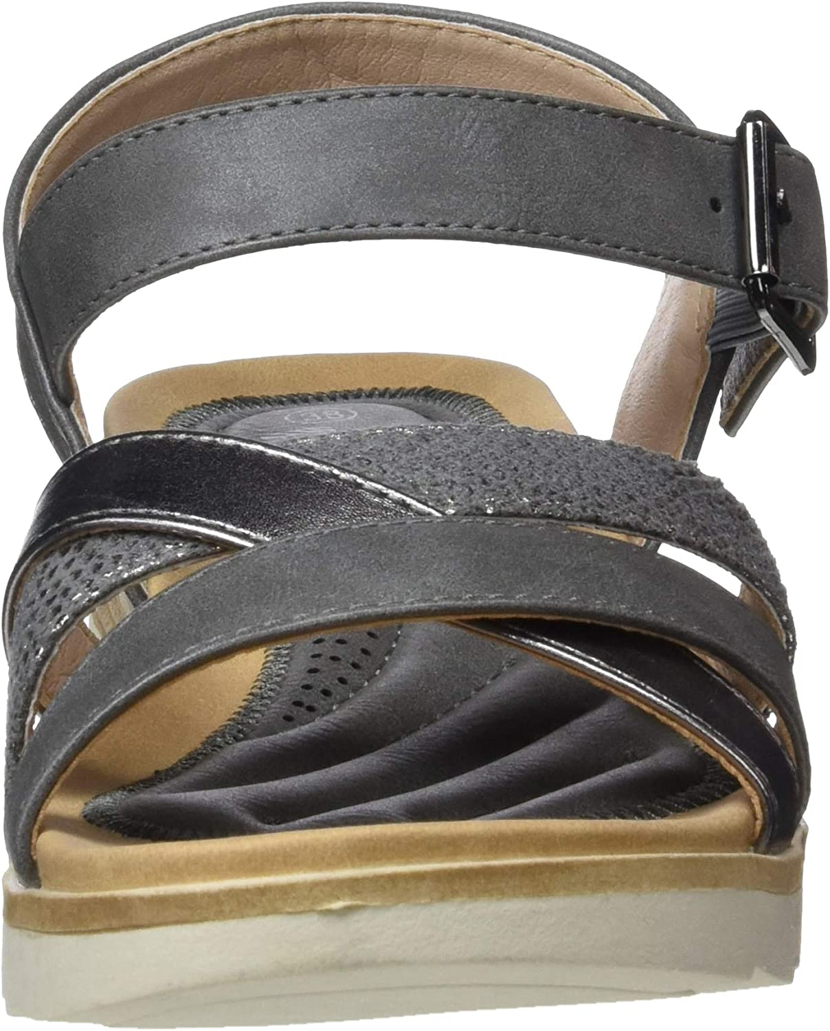 New Womens XTI Tan 48141 Synthetic Sandals Flats Buckle Straps