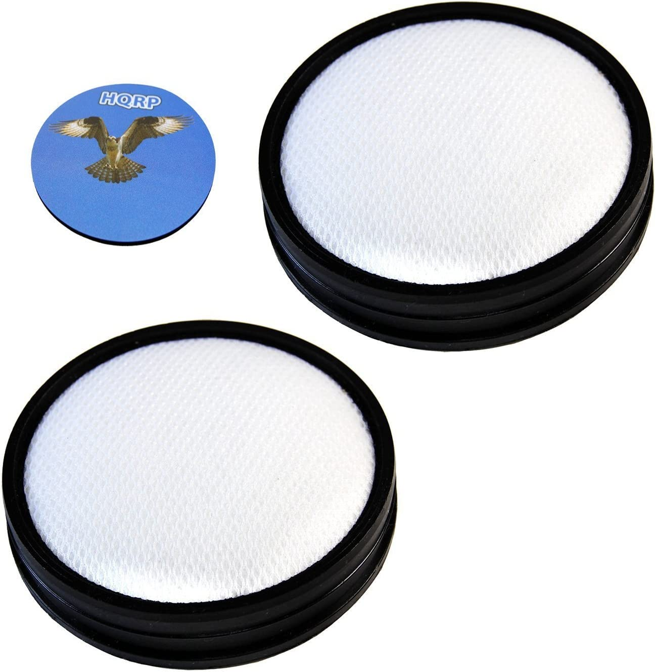 HQRP 2- Pack Washable Primary Filters compatible with Hoover UH70931PC WindTunnel 3 Pro Pet Bagless Upright plus HQRP Coaster