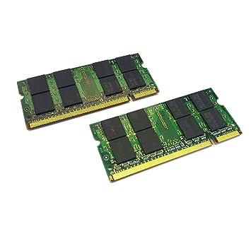 dekoelektropunktde DELL Latitude D620 D630, D630 C, D630 XFR D631 | 2 x 2 GB Memoria RAM (4GB Kit) SO-DIMM DDR2 Memory para: Amazon.es: Informática