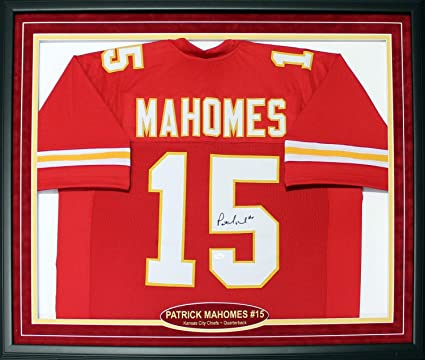 486773a6f9fe9 Patrick Mahomes Autographed Framed Kansas City Chiefs Jersey (JSA) at  Amazon's Sports Collectibles Store