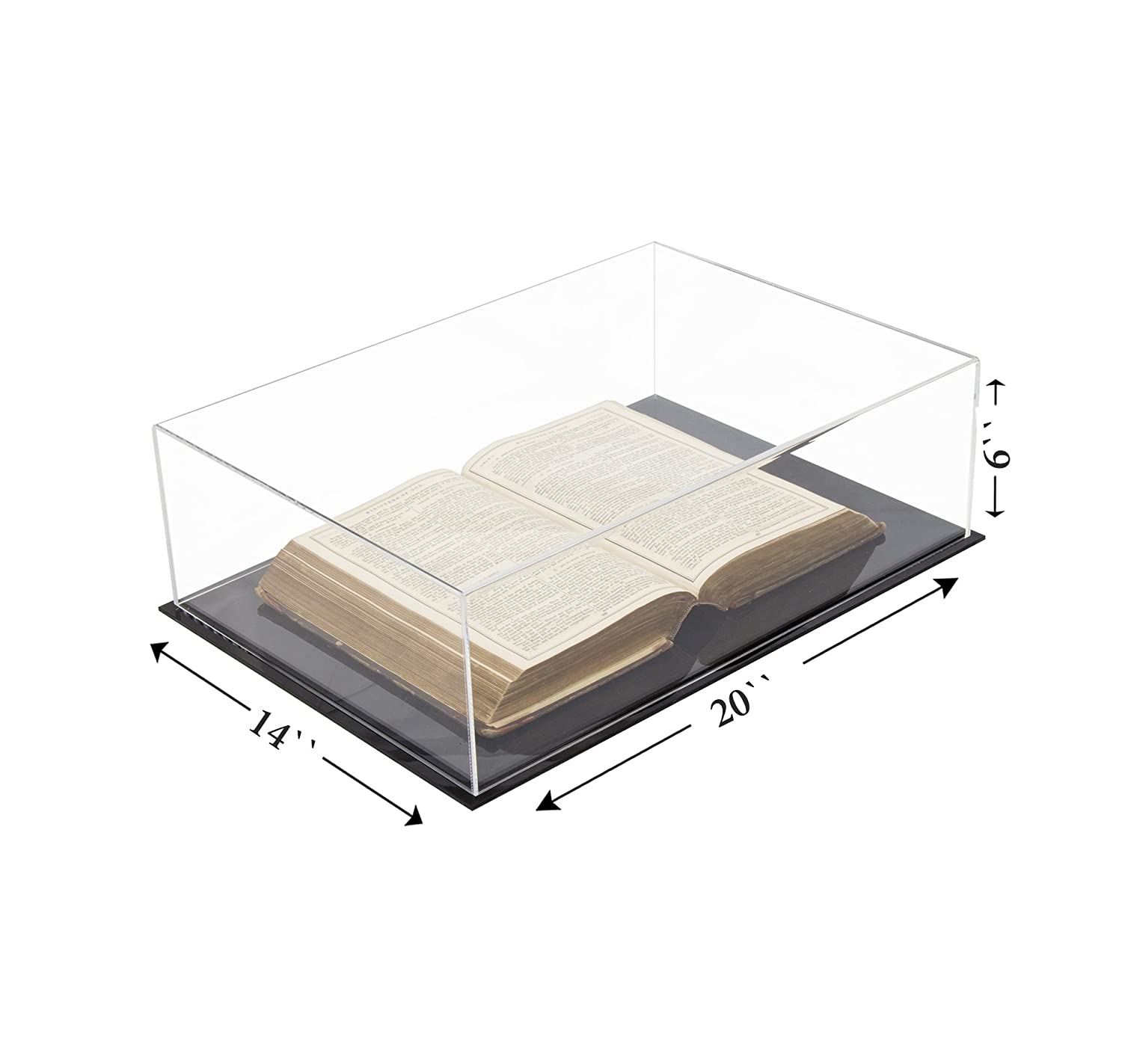 A026 Deluxe Clear Acrylic Book Display Case