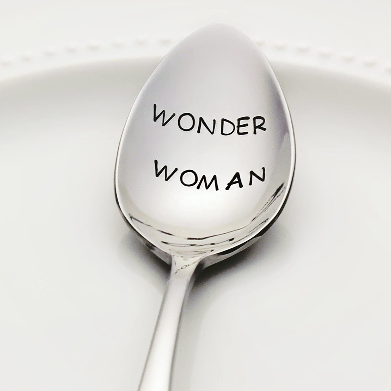 Wonder Woman - Stainless Steel Stamped Spoon | Stamped Silverware | Sorority Gifts for Women and Her | Unique Mother's Day Gift for Mom