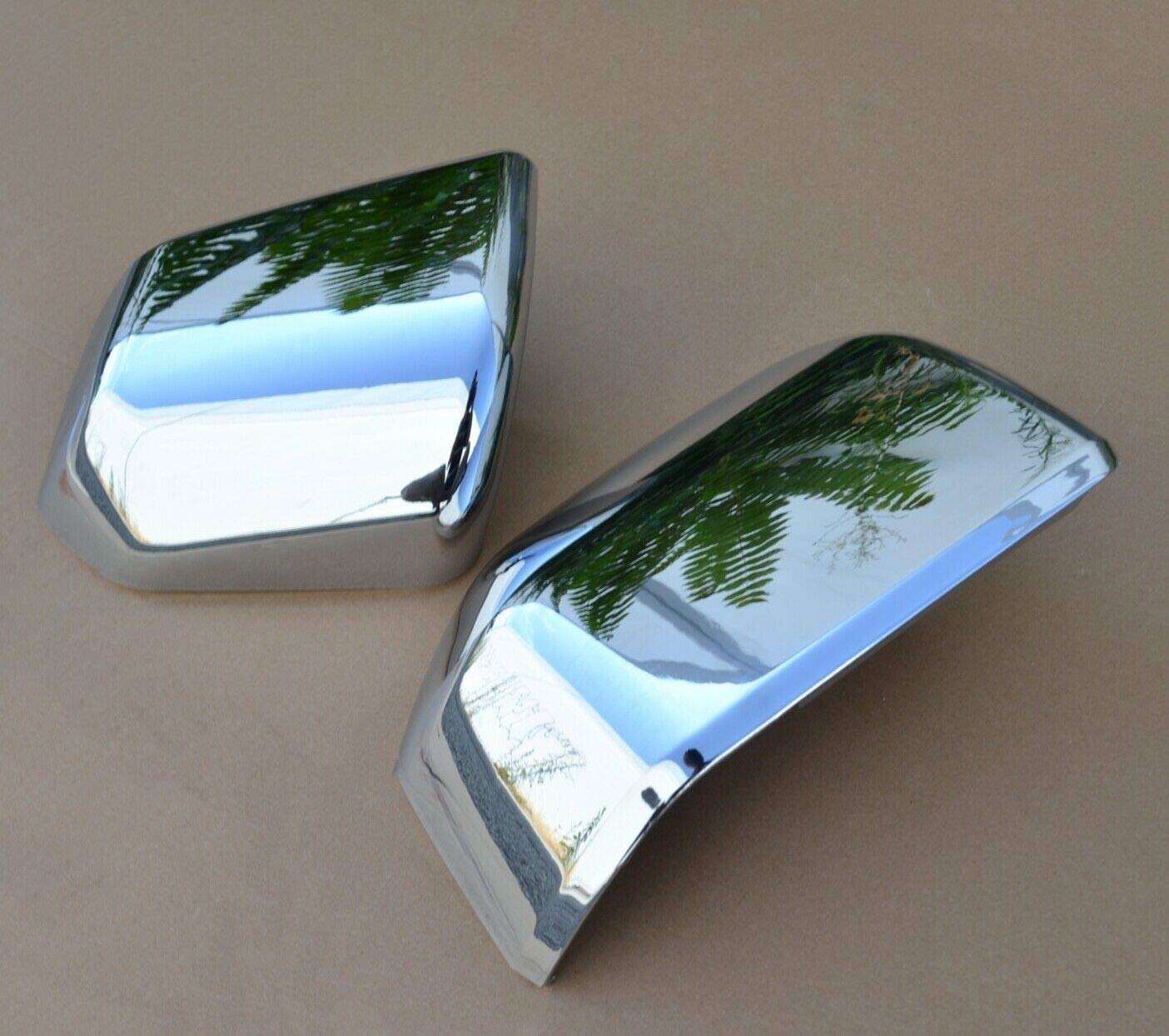 Mirrors Custom Painted Silver Metallic Code UX Mirror Skull Cover Caps For Ford F150 15 16 17 18 19 OE Replacement Door Rear View Upgrade Ingot Silver Metallic-UX
