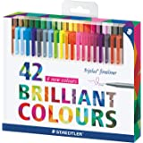 Staedtler 0.3 mm Triplus Fineliner Superfine Point Pens - Assorted (Pack of 42)