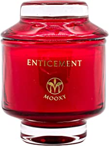 MOOXY Aromatherapy Candle | Long Burning Soy Candles for Home Scented | Home Decorative Gifts Set for Women & Men | 8oz Honeysuckle 45 Hours Long Burning | Enticement Scented Candle