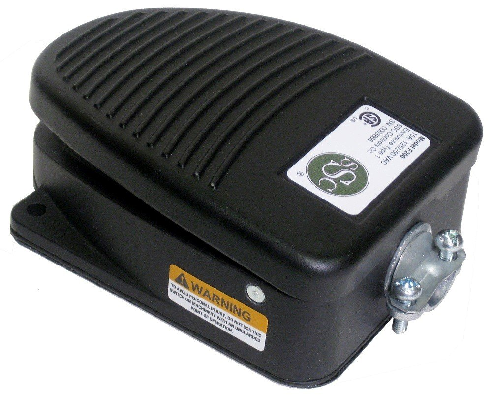 SSC Controls F200 Foot Switch, Die-Cast, Electrical, Momentary Action, SPDT, Single Pedal, Made in USA by SSC Controls (Image #2)