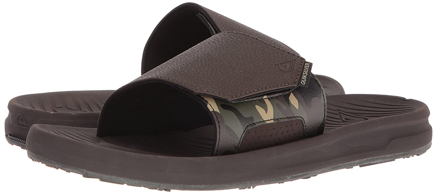 404145fd397a09 Amazon.com  Quiksilver Men s Travel Oasis Slide Sandal  Shoes