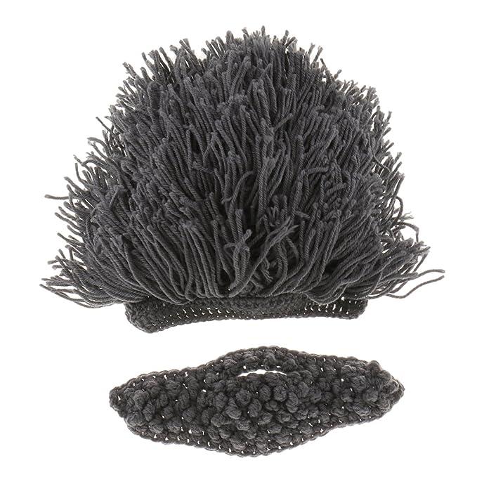 Kinder Perücke Strickmütze Mütze Bart Hut Kostüm Cosplay Mütze ...