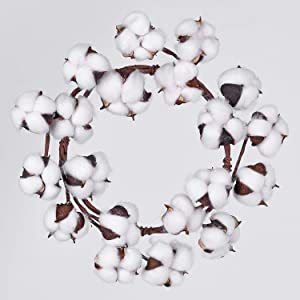 Lvydec Mini-Sized Cotton Wreath Decor - 10