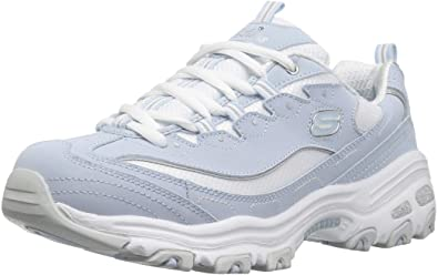 d7d889446b26 Skechers Sport Women s D Lites-Biggest Fan Sneaker Light Blue White ...