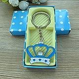 Amazon.com: Baby Boy Shower Rattle Keychain Favor Blue 12PCS ...