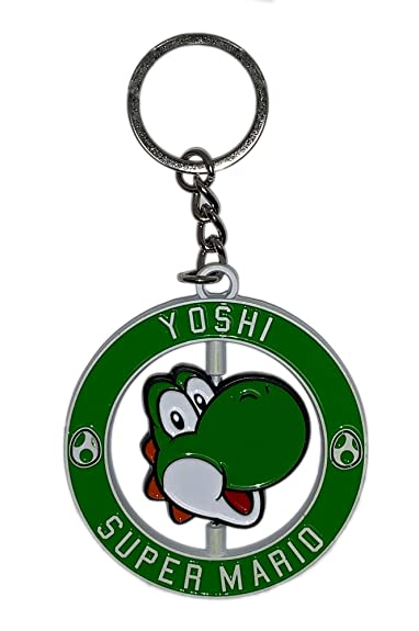 Super Mario Bros Yoshi Llavero giratorio de metal: Amazon.es ...