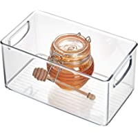 iDesign Plastic Storage Bin with Handles 3 Ounce