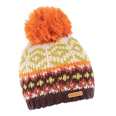 Weird Fish Naz Fair Isle Knit Bobble Hat Pumpkin Size One: Amazon ...