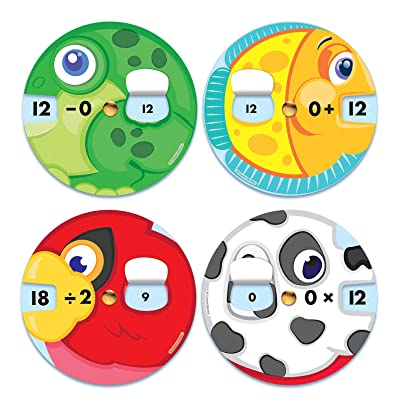Carson-Dellosa EZ-Spin: Math Facts Manipulatives, 4 Sets: Industrial & Scientific